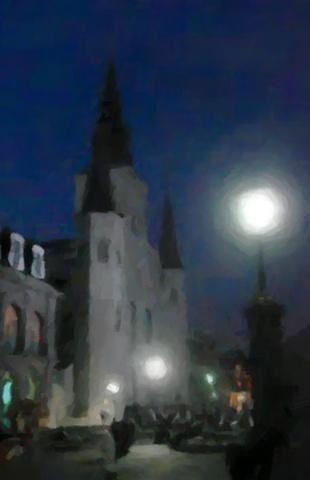 Midnight at Jackson Square