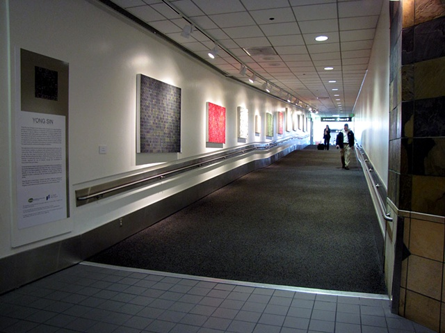 Installation view at Los Angeles International Airport, Terminal 1, US Airways, public art display