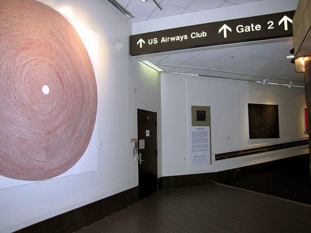 Installation view at Los Angeles International Airport, Terminal 1, US Airways