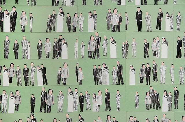 Group Photo, Wedding Reception, Detail
