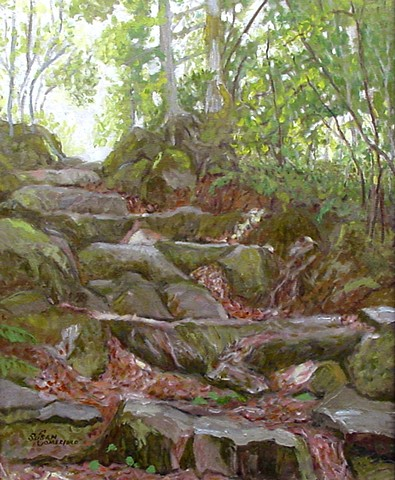 Old Stone Steps in the forest