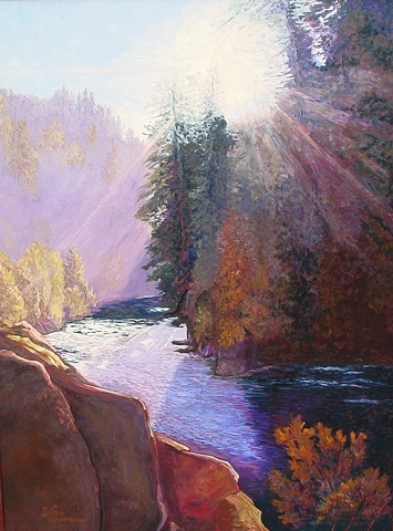 Dawn on the North Umpqua at Swiftwater Wayside near Idleyld, OR