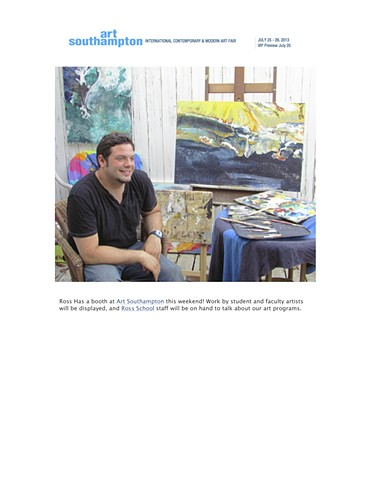 Art Southampton featuring work by Jon Mulhern Gallery # 98 Artist @Ross  July 25-29,2013