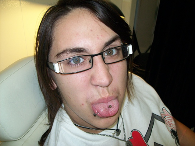 tongue piercing, lip piercing