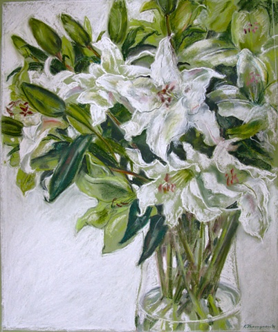 Arrangement in White and Green
