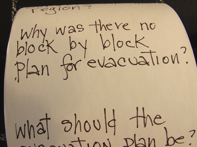 Questions generated in response to Hurricane Katrina, 2005-07