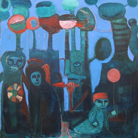 expressionism saturation blue orange figures primitive symbolism figures Portland