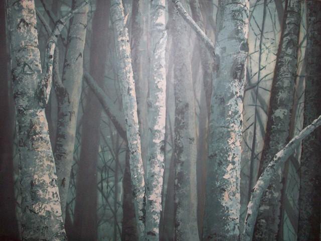 Roadside Birches, Pre-Dawn SOLD