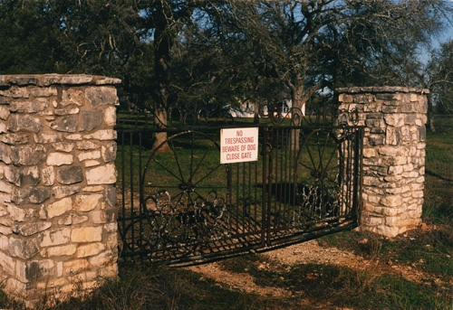 Ranch gate, Buda, TX