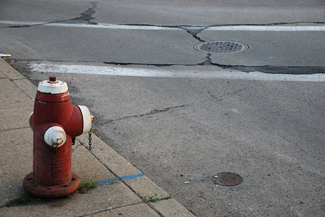 Hydrant at sunset