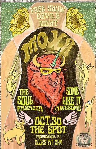 Moxa Devil's Night Show Poster