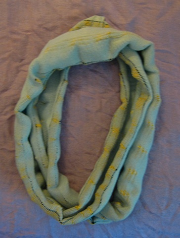 Scruched Circle Scarf with Hand Detailing