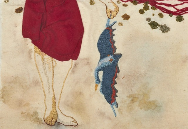 Girl with Bird (detail)