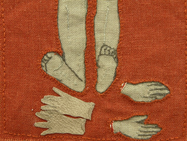 Gloves and hands (Detail)