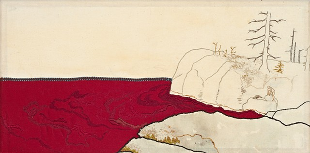 Red Seascape (Man with Dead Seal)