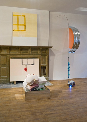 Installation view of Geography of Imagination at Adam House, New York, NY, 2009.