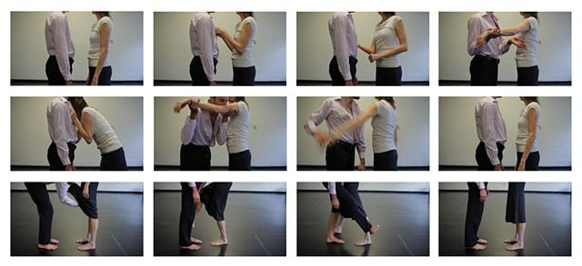 series of video stills from Intimacy
