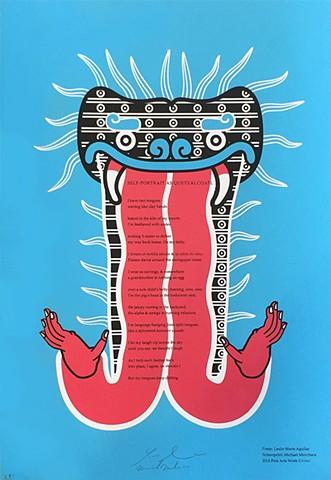 """Leslie Marie Aguilar's """"Self Portrait As Quetzalcoatl"""""""