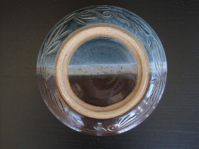shallow bowl outside carving