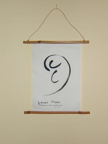 wall hanging of telepathic pictograph, an awareness awakener
