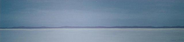 Early monring Winter horizon scene on Lake Nipissing
