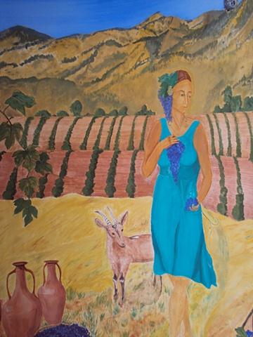 mural detail, Geshtin-anna