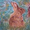 Detail of Geshin-anna mural, rabbit