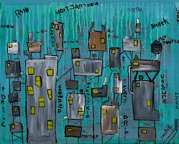 large abstract cityscapes