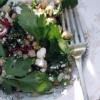 chickpea, feta, chilli and mint salad
