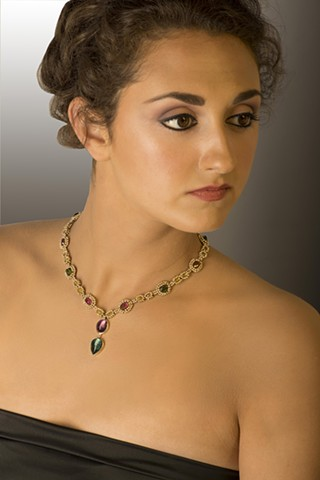 Model Wearing Princess Necklace
