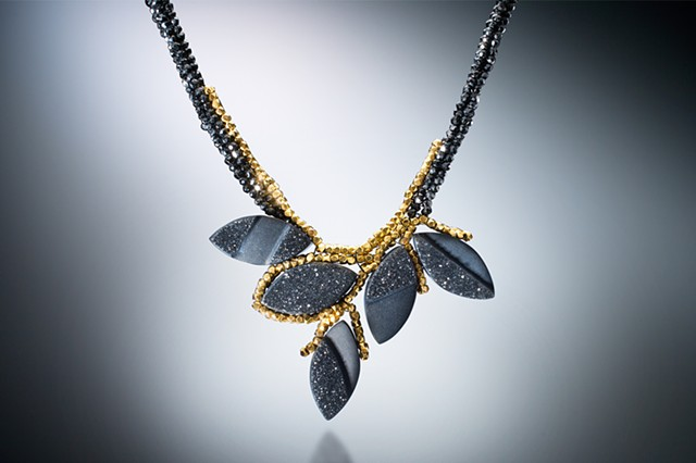 Black Petals Necklace