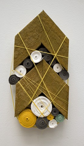 Art made with handmade paper and salvaged wood