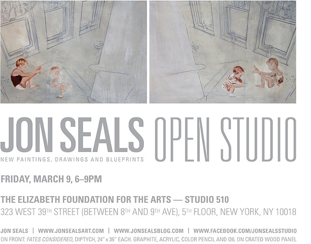 Open Studio Invitation Postcard Friday, March 9, 2012 Elizabeth Foundation for the Arts