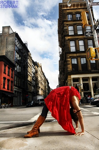 The Loveliness of the Girl in the Red Dress ~ NYC