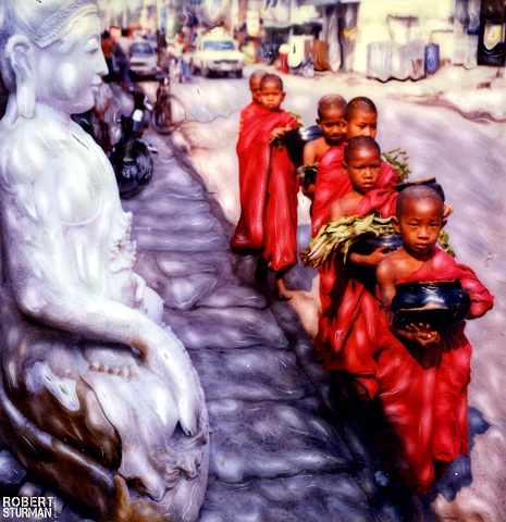 Novices in Procession ~ Mandalay, Burma