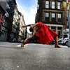 Red Dress Reverse Warrior ~ NYC
