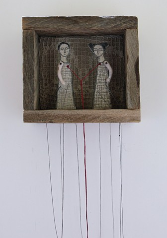 hand embroidery diorama