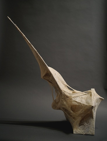 JR Larson, JR, Stretching, Copper, Gut, sinew, explosive, sculpture, black, minerals, art, artist, war, artifact, plexi, wood