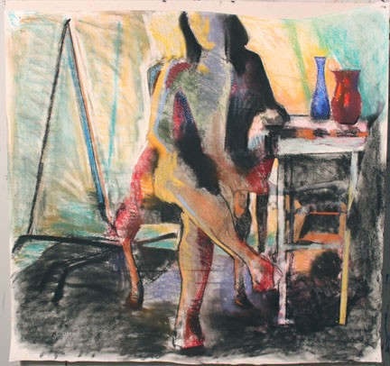 Studio Drawing, (Diebenkorn Woman)