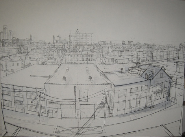 View of Philadelphia - Westward from Percy and Spring Garden (Underdrawing)