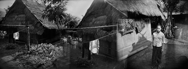laos, relocated hmong village
