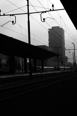 "///// 'Ljubljana Train Station II, Slovenia' digital print 9"" x 13.5"" 2016"