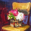 Studio Chair with Flowers