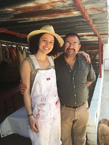 Mestro Manuel and I on his Cochineal Farm