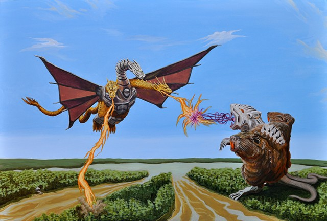 Mecha-King Nutria vs. Mecha-King Ghidorah