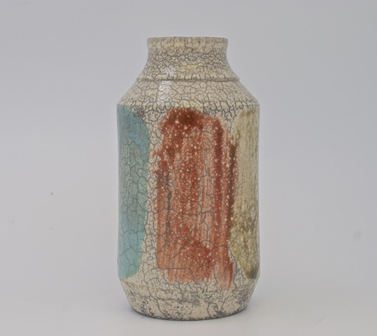 modern raku vessel from Spectrum series