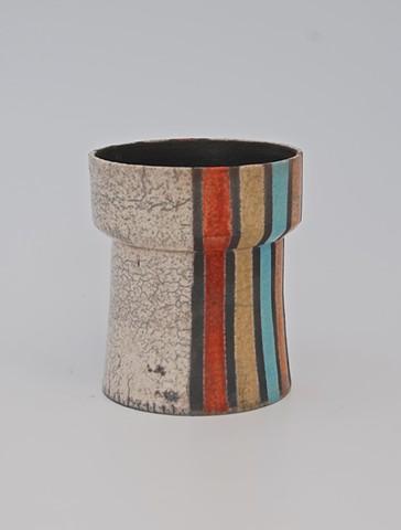 Raku fired urn