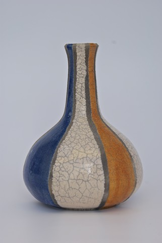 Raku fired bottle