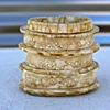 gold Raku extrusions-SOLD
