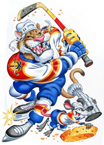 Florida Hockey (with Rat Mascot)